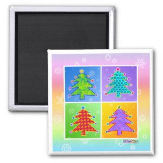 Magnets - Pop Art Christmas Trees