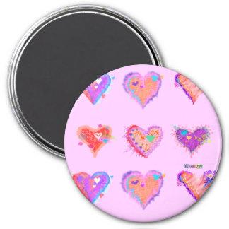 Magnets - Pop Art Crazy Hearts 2
