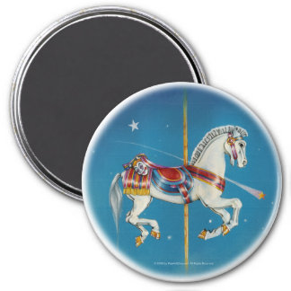 Magnets - Red, White & Blue Carousel Horse