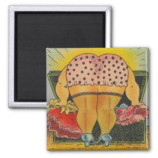 Magnets Vintage Pink & Black polka Dot Bloomers