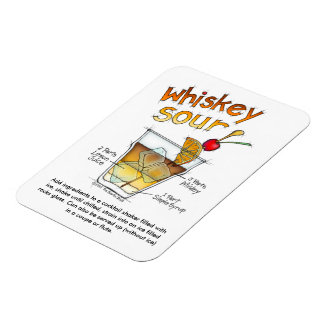 MAGNETS - WHISKEY SOUR COCKTAIL RECIPE & ART