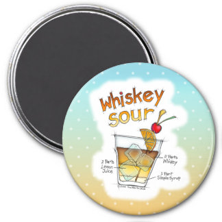 MAGNETS - WHISKEY SOUR RECIPE COCKTAIL ART