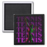 Magnets Women's Tennis 1 Purple Dark or Light