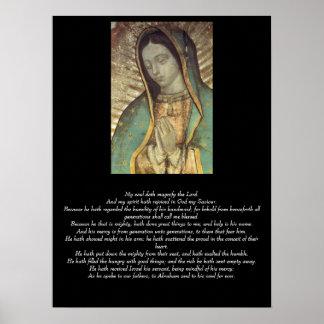 Magnificat de la Virgen bendecida Póster