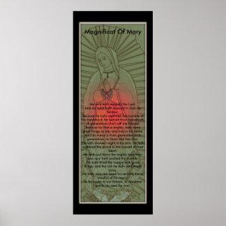 Magnificat del Virgen María bendecido Póster