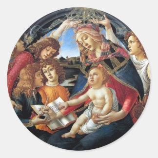 Magnificat Madonna Etiquetas Redondas