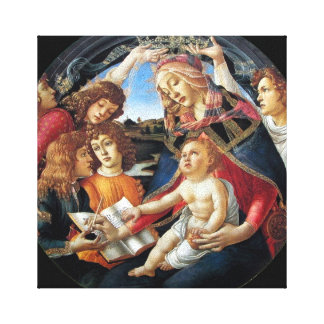 """""""Magnificat Madonna"""" por Botticelli Lona Estirada Galerias"""