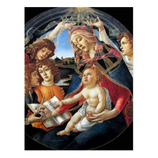 Magnificat Madonna Tarjeta Postal