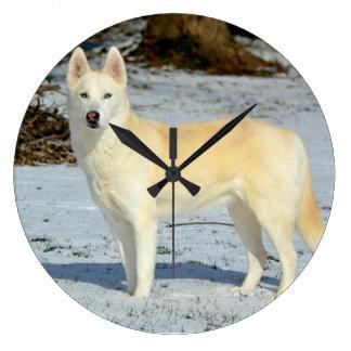 Magnificent Animal Clock - Siberian Husky