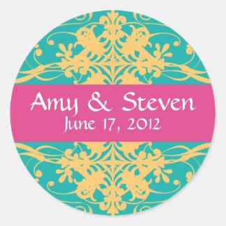 Magnificent Bright Custom Wedding Stickers