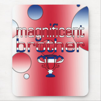 Magnificent Brother Britain Flag Colors Mouse Pad