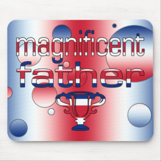 Magnificent Father in Britain Flag Colors Pop Art Mouse Pad