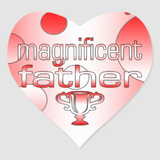 Magnificent Father in Canada Flag Colors Pop Art Heart Sticker