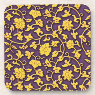 Magnificent floral arabesque coasters