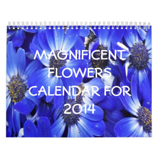 Magnificent Flowers Calendar For 2014