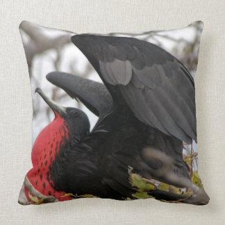 Magnificent Frigate Bird Throw Pillows