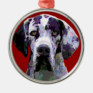 Magnificent Great Dane European Harlequin Ornament