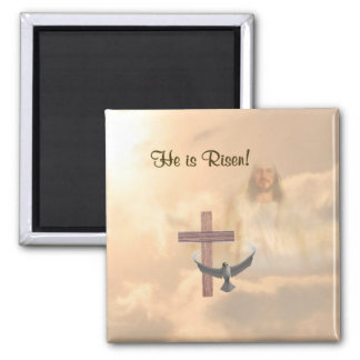 Magnificent He is Risen Magnet