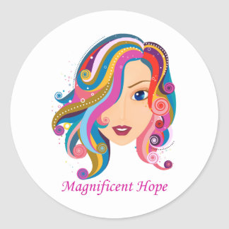 Magnificent Hope Classic Round Sticker