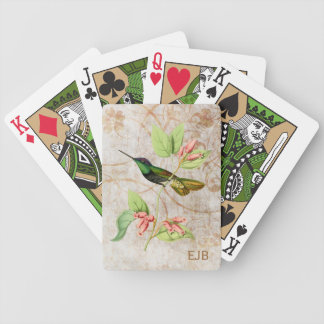 Magnificent Hummingbird Bicycle Playing Cards