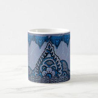 Magnificent Mehndi Mandalas (Blue) Coffee Mug