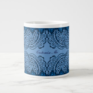 Magnificent Mehndi Mandalas (Blue) Large Coffee Mug