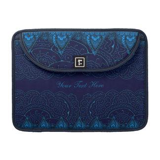 Magnificent Mehndi Mandalas (Blue) MacBook Pro Sleeves