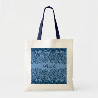 Magnificent Mehndi Mandalas (Blue) Wedding Tote Bag