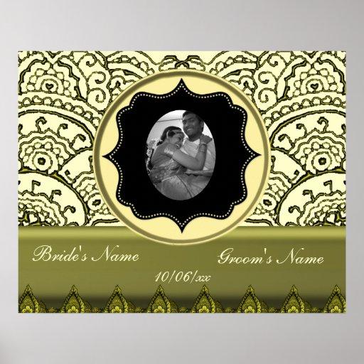 Magnificent Mehndi Mandalas (Gold Effect) Poster