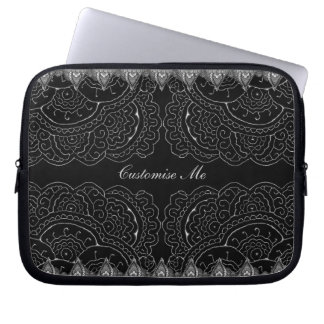Magnificent Mehndi Mandalas Laptop Sleeve