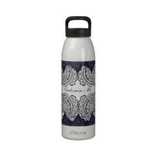 Magnificent Mehndi Mandalas (Purple) Water Bottle