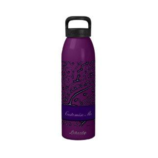 Magnificent Mehndi Mandalas (Purple) Water Bottles