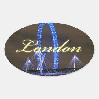 Magnificent! Millennium Wheel London Oval Sticker