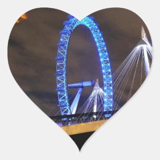 Magnificent! Millennium Wheel London Heart Sticker