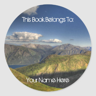 Magnificent Mountains; Mailing Necessities Round Sticker
