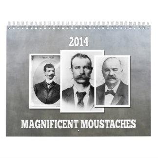 Magnificent Moustaches / Mustaches 2014 calendar
