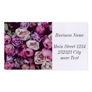 magnificent painted flowers business card