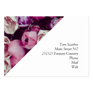 magnificent painted flowers large business card