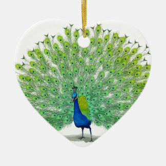 Magnificent Peacock Art Ceramic Ornament