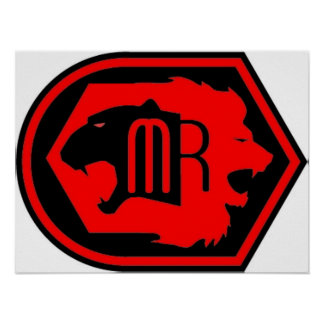 MAGNIFICENT RUFFIANS RED LOGO POSTER