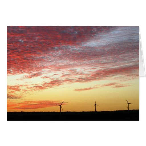 Magnificent Sky and Wind Generators Greeting Card