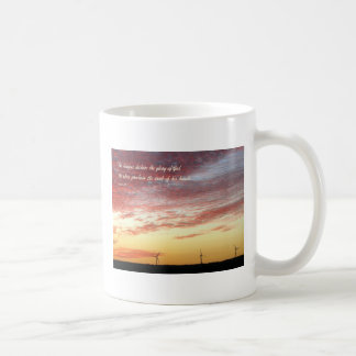 Magnificent Sky and Wind Generators with Scripture Coffee Mug