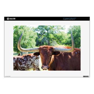 Magnificent Texas Longhorn Bull Laptop Skins