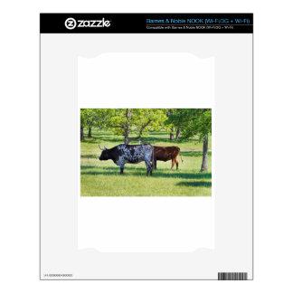 Magnificent Texas Longhorn Steers NOOK Skins