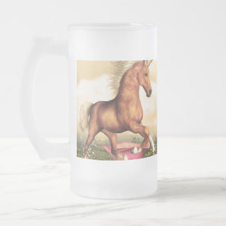 Magnificent Unicorn 16 Oz Frosted Glass Beer Mug