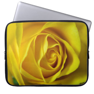 Magnificent yellow rose macro picture computer sleeves