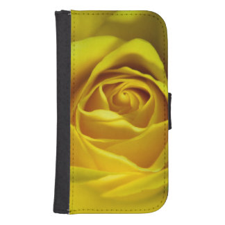 Magnificent yellow rose macro picture phone wallet