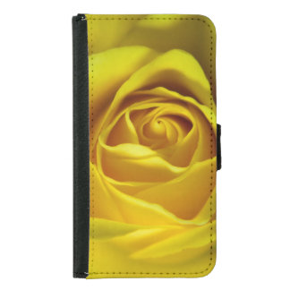 Magnificent yellow rose macro picture samsung galaxy s5 wallet case