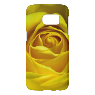 Magnificent yellow rose macro picture samsung galaxy s7 case