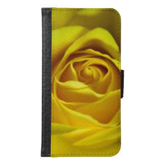 Magnificent yellow rose macro picture wallet phone case for samsung galaxy s6